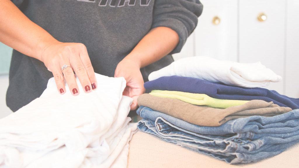 衣服の選別