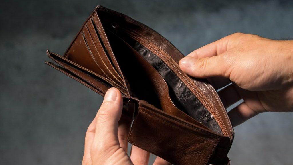 開いた財布
