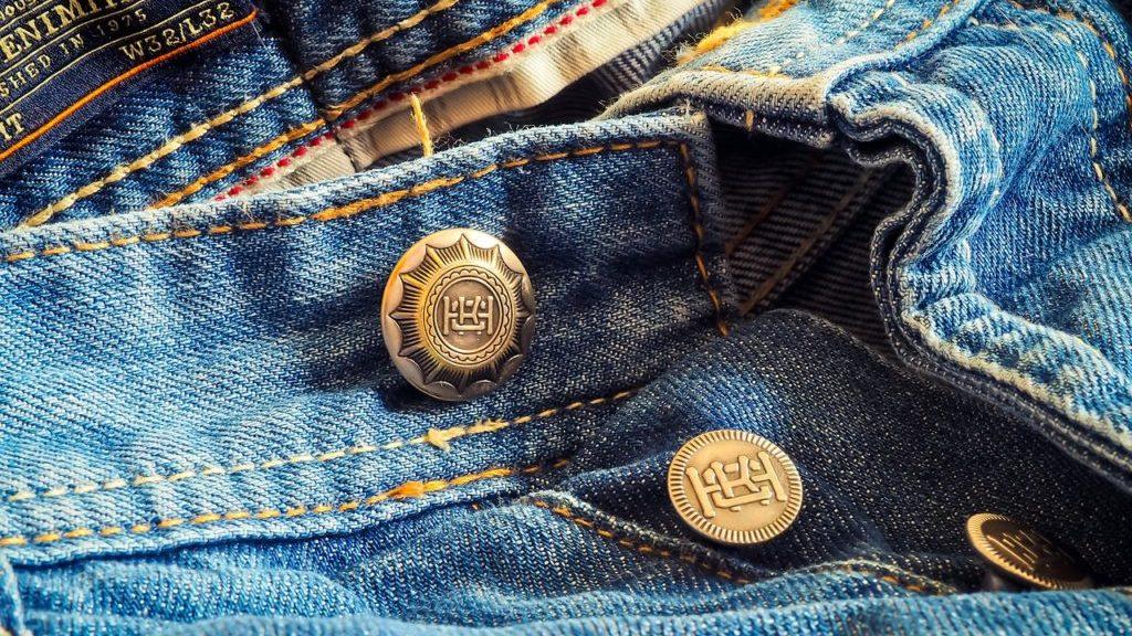 ジーンズのボタン